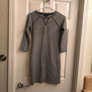 French Comnection striped shirt dress
